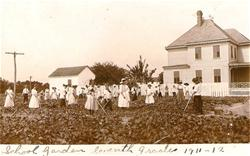 Syms-Eaton students in garden 1911-1912