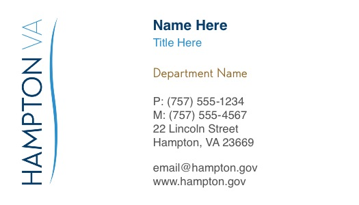 Hampton Letterhead  Employee Business Card Ordering Process
