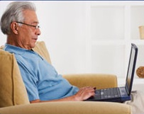 Retired Man on Computer