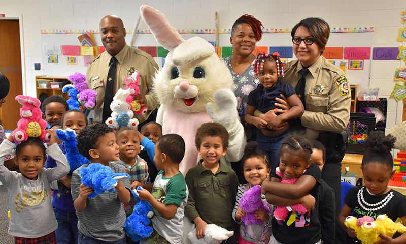 For the 11th consecutive year, the Hampton Sheriff's Office partnered with the Easter Bunny Foundation, a non-profit organization founded by Eleanor and Sam Meiner of Winter Park, Fla., to provide per