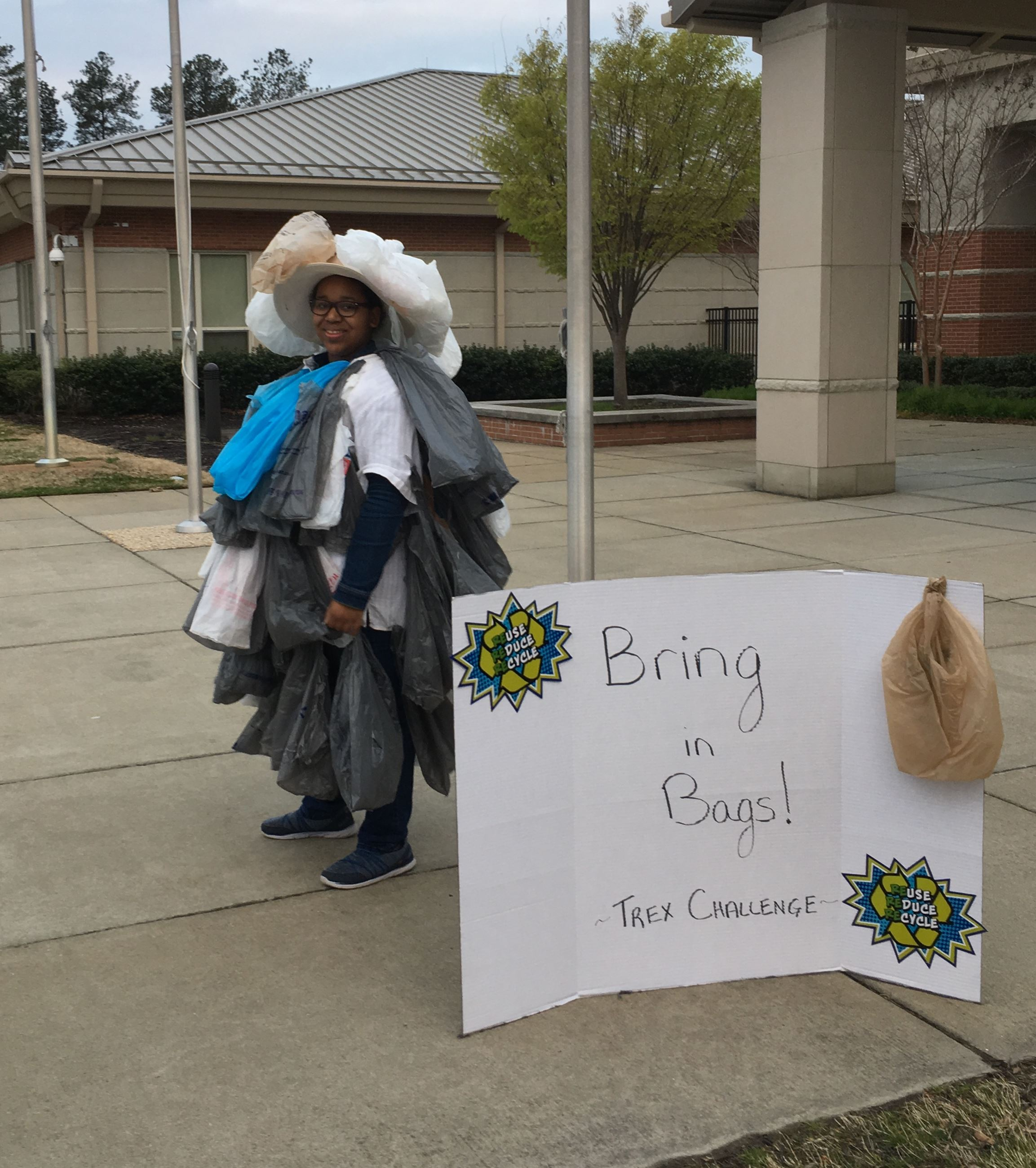 Trex Company&#39s Plastic Bag/Film Challenge, School Recycling Efforts