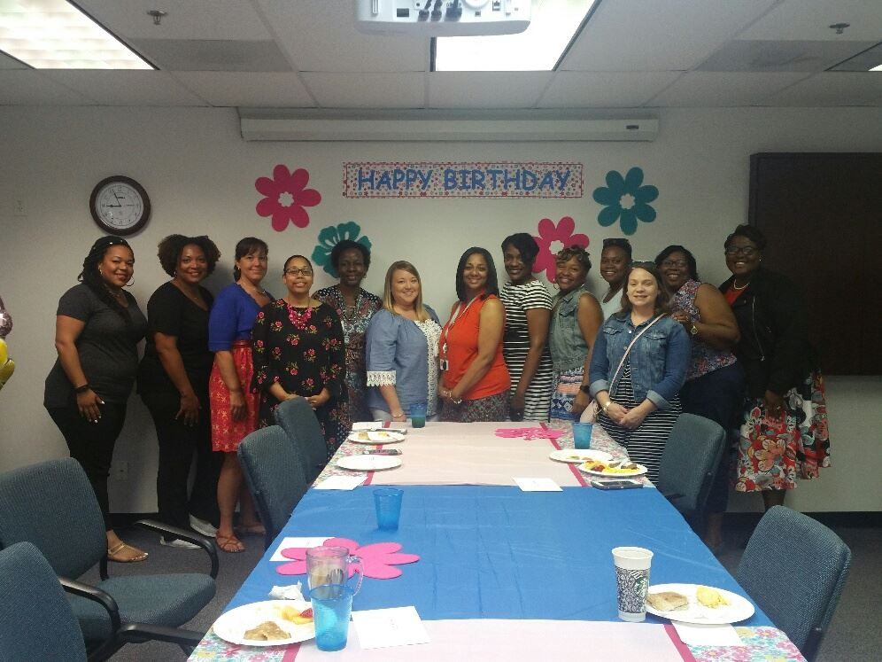 The Healthy Families staff celebrates birthdays January-June 2018