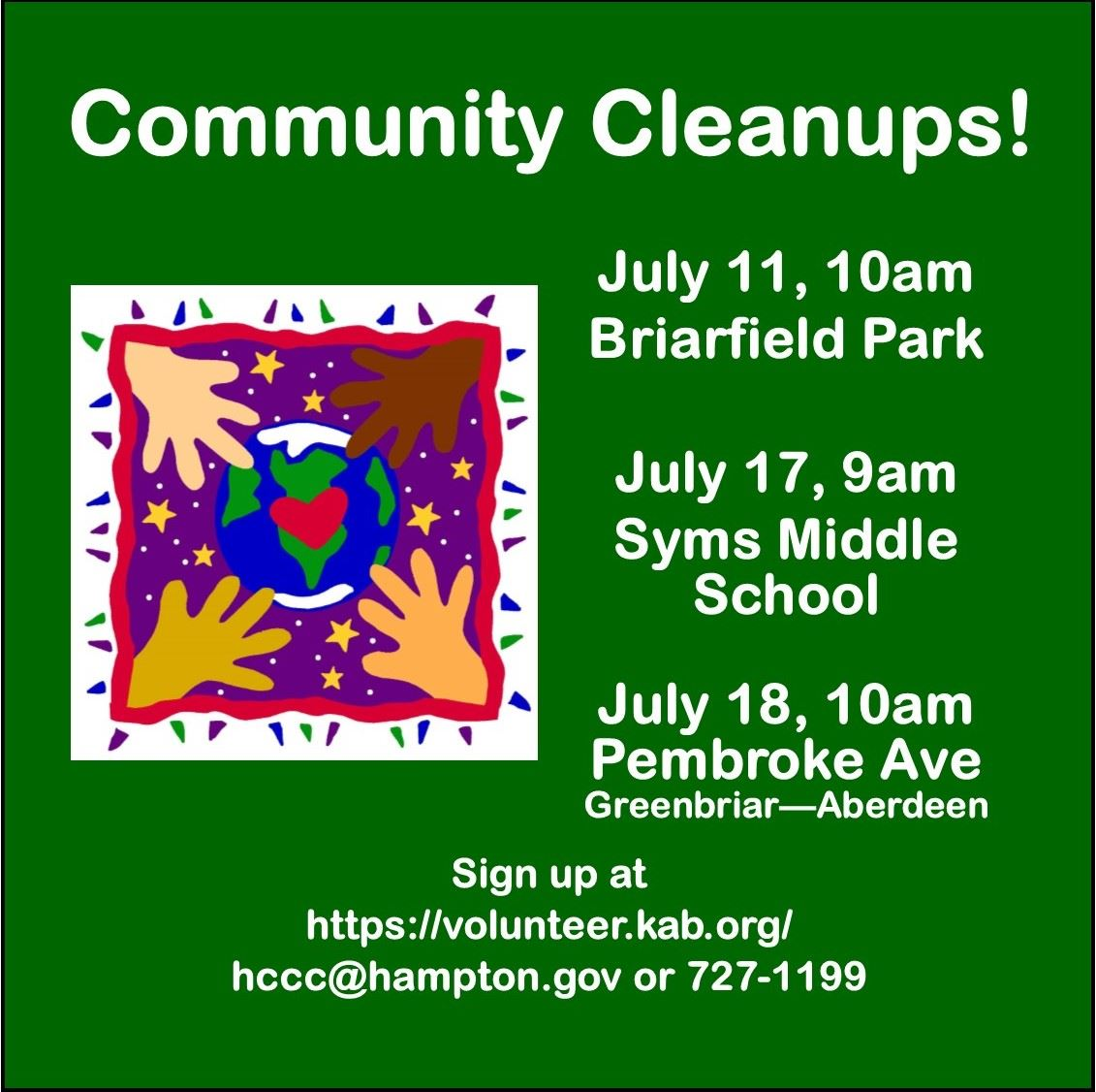 July Cleanups 2020