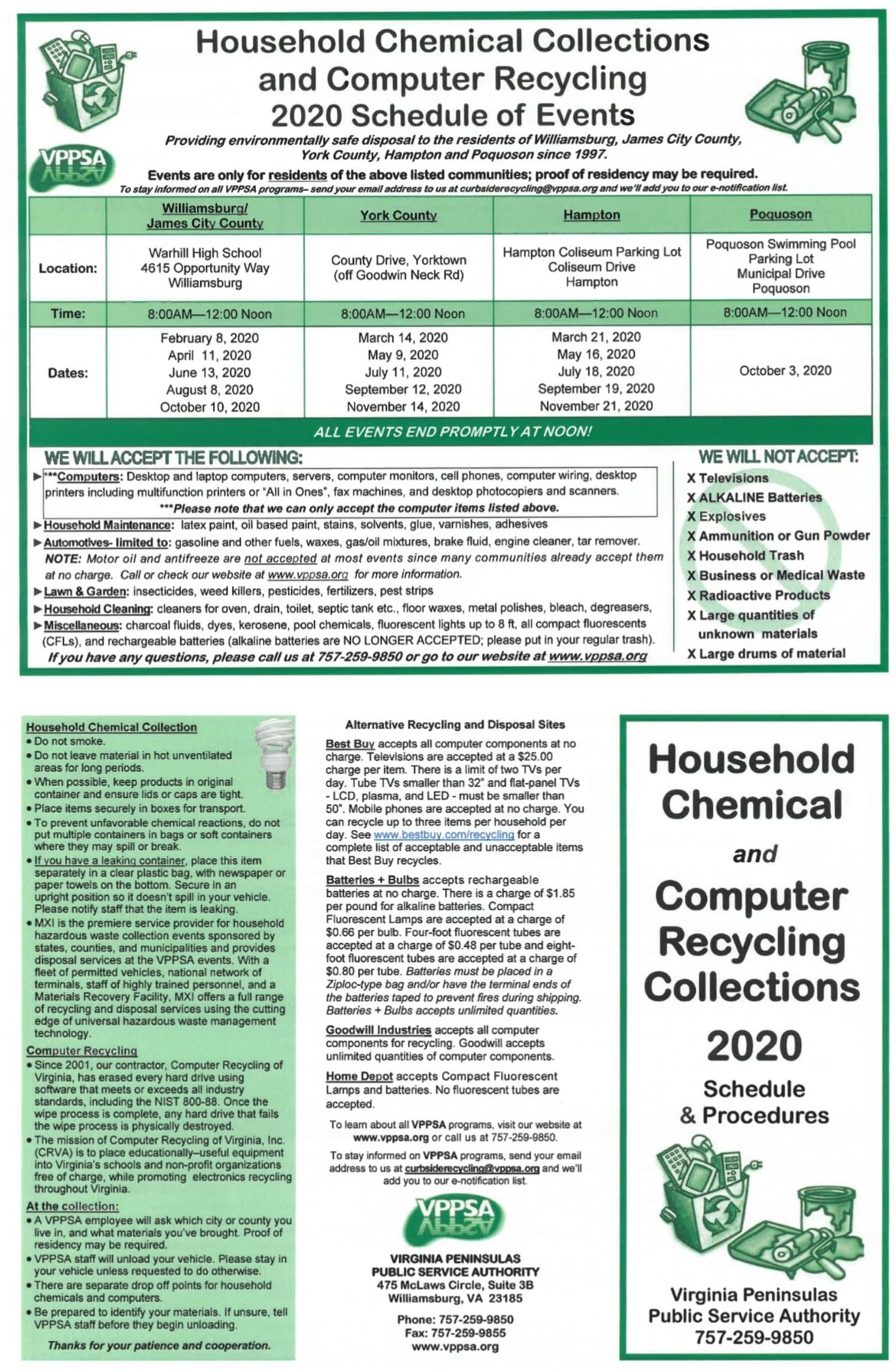 Household Chemical Collection VPPSA Flyer 2020