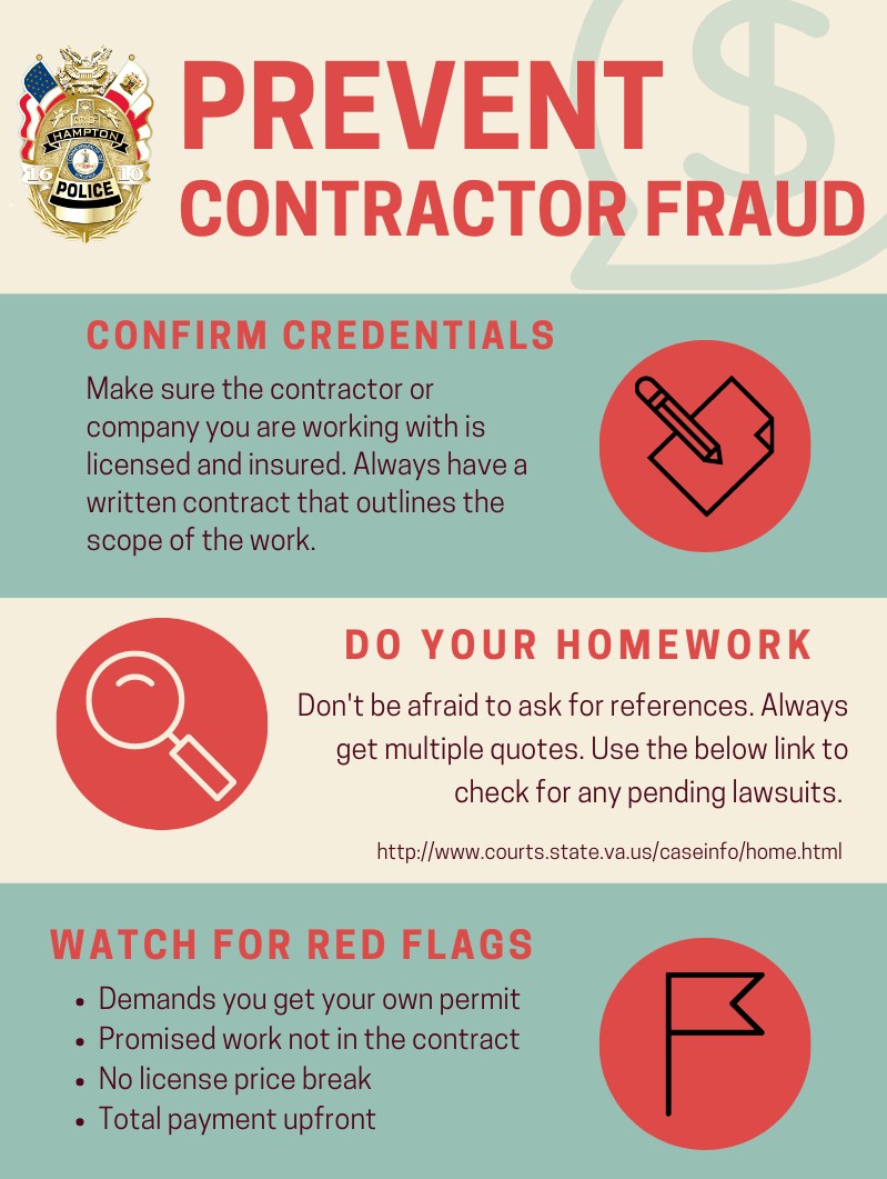 Contractor Fraud tips