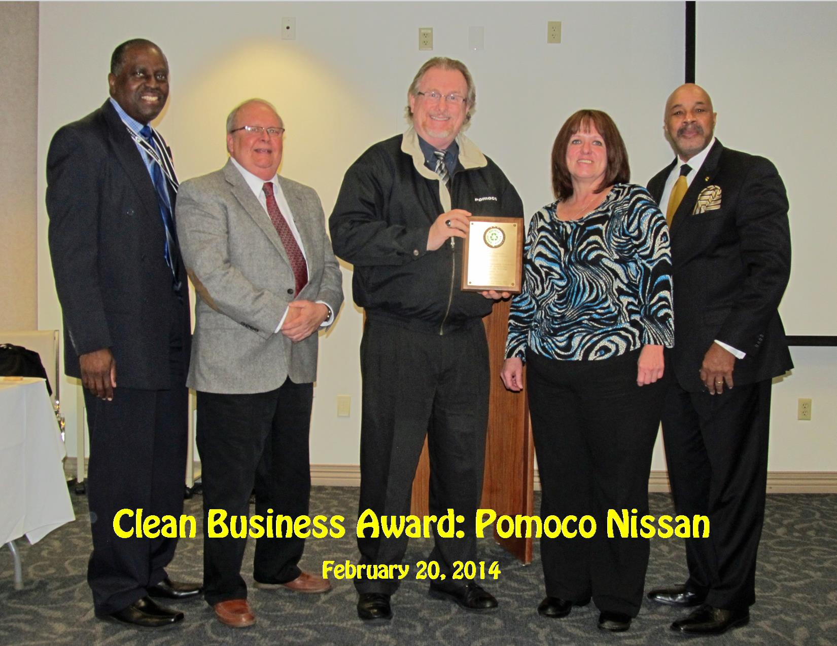 2-20-14 Clean Business Award Pomoco Nissan