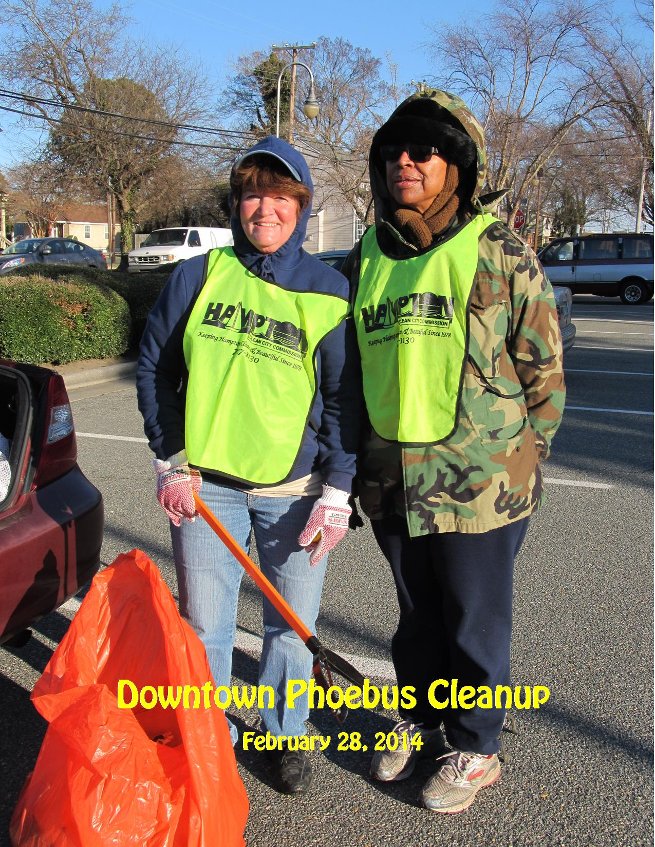 2-28-14 Downtown Phoebus Cleanup