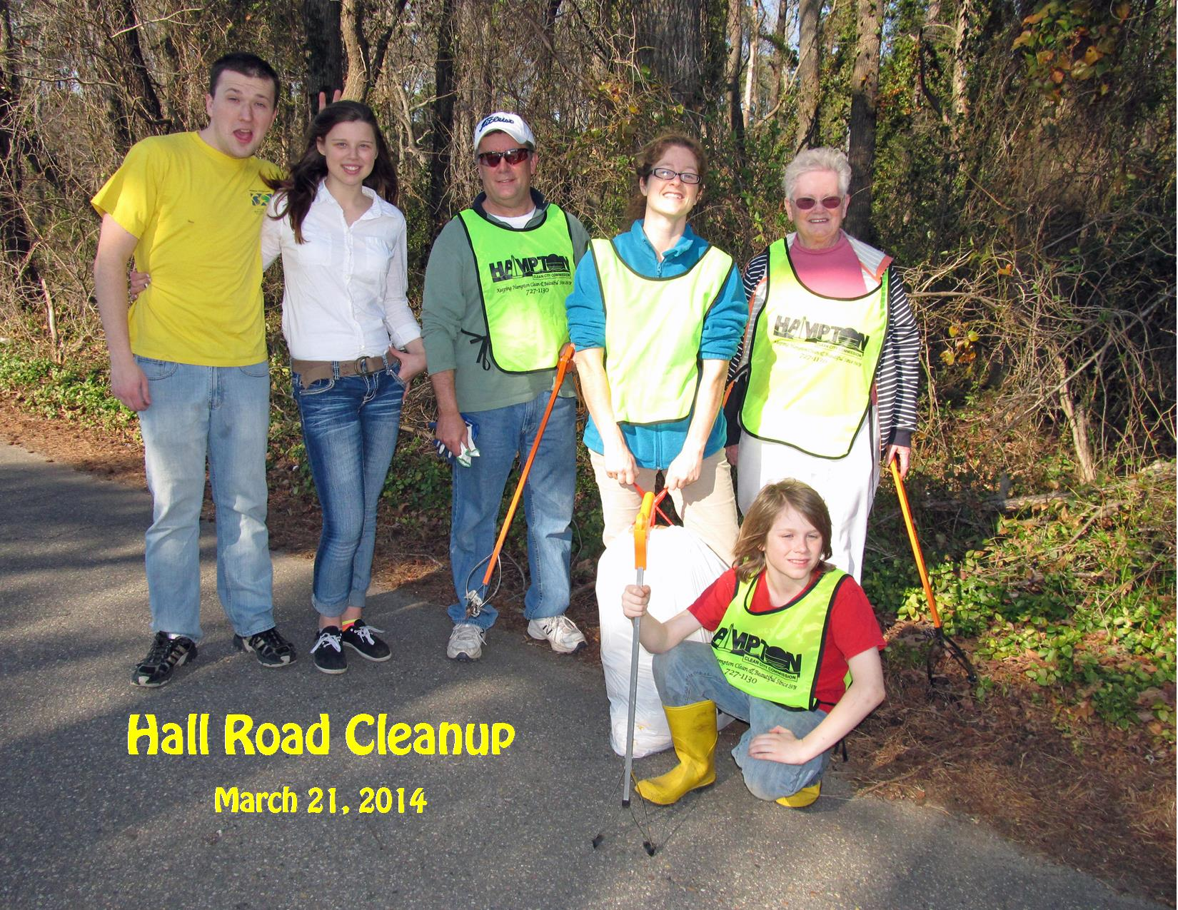 3-21-14 Hall Road Cleanup Group