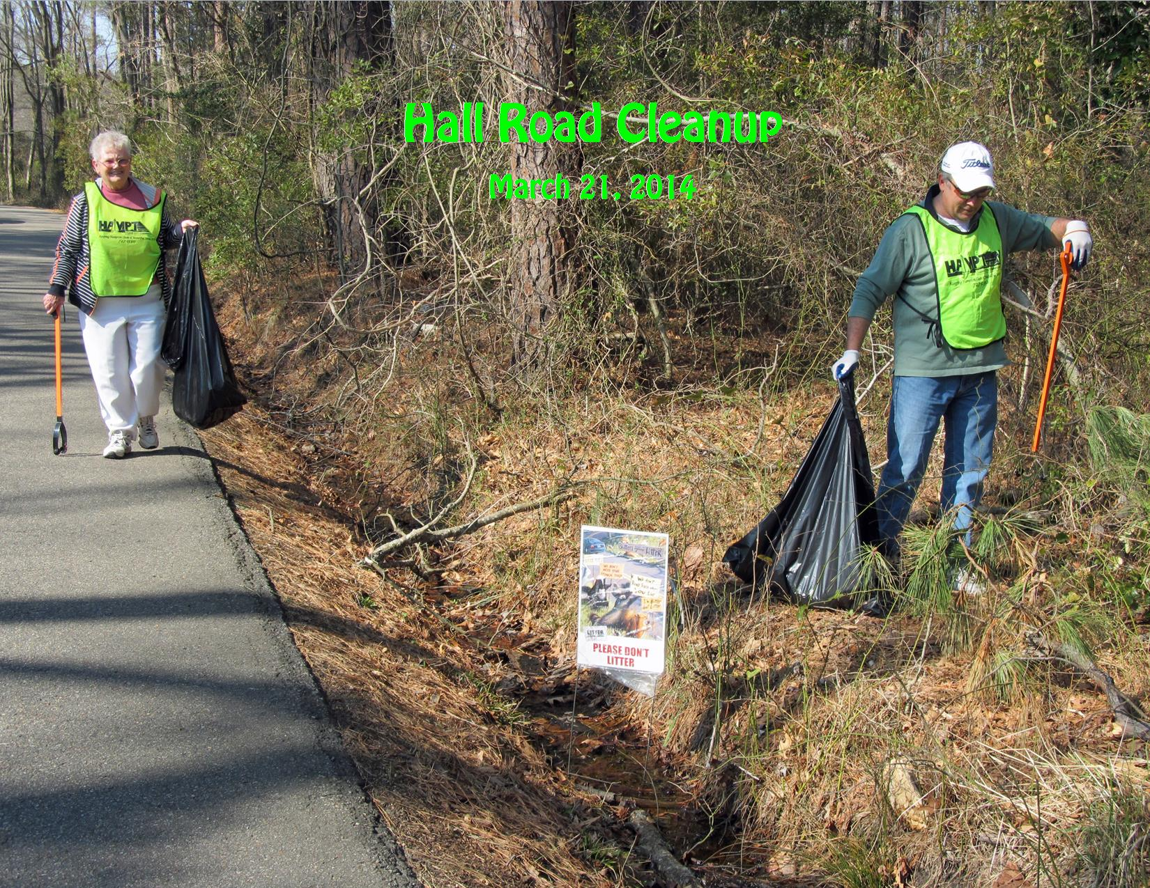 3-21-14 Hall Road Cleanup