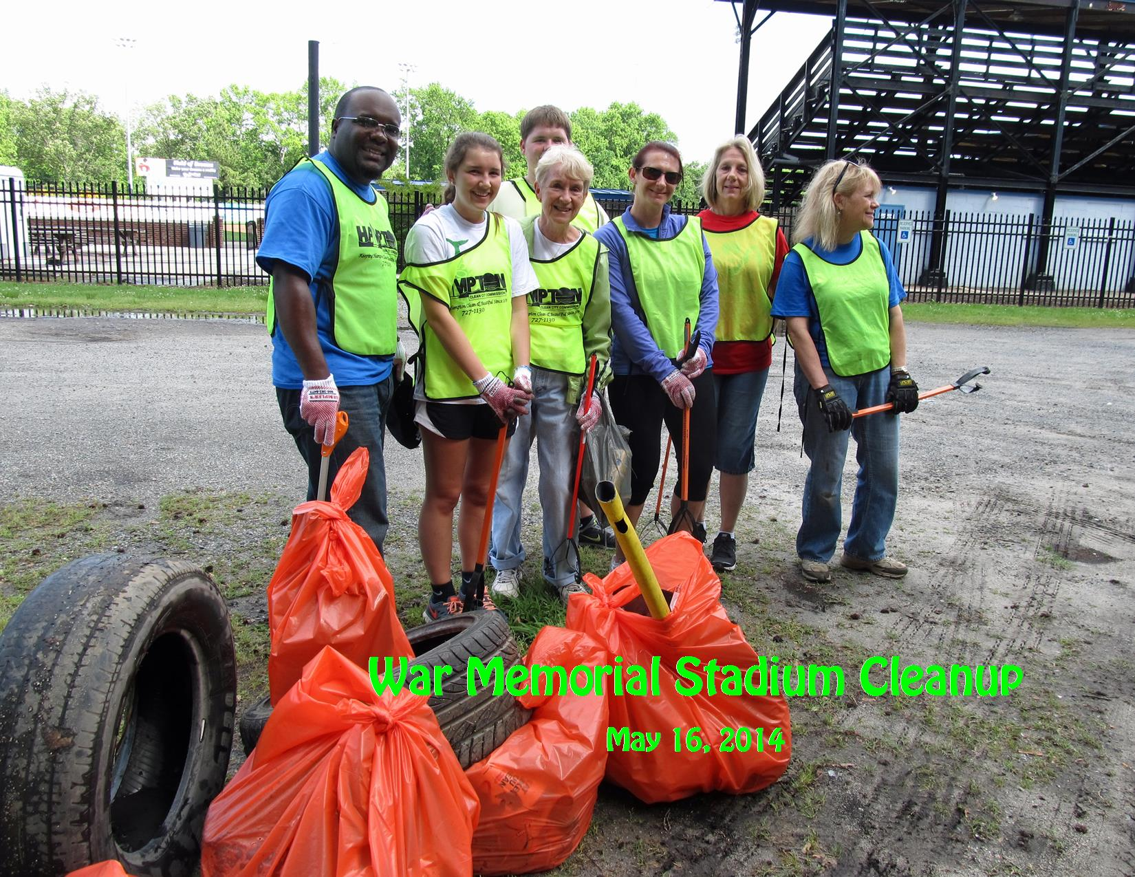 5-16-14 War Memorial Cleanup Group