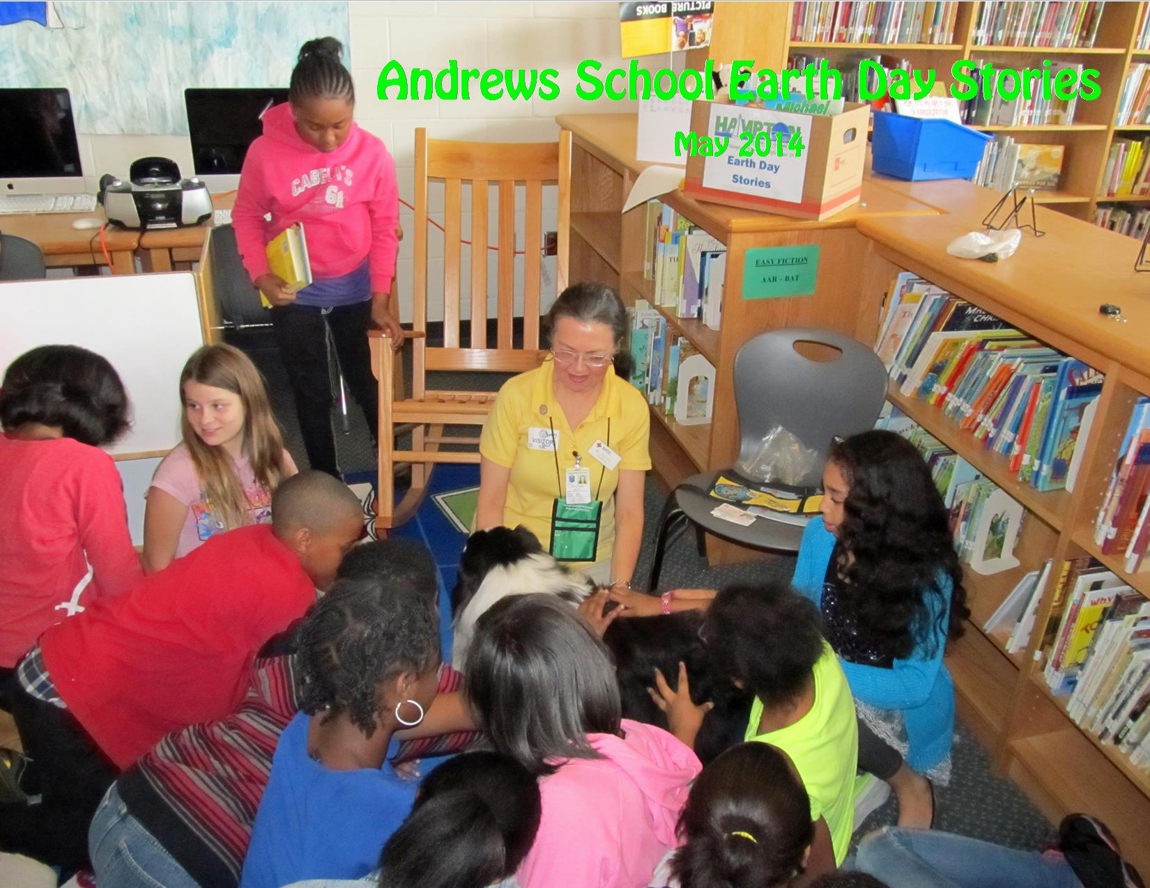 5-2014 Andrews Earth Day Stories Melanie and Molly