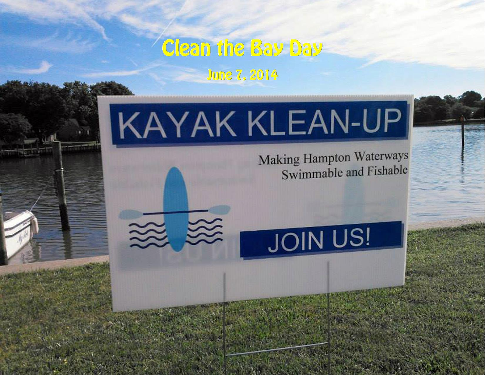 6-7-14 Clean the Bay Day Kayak Kleanup