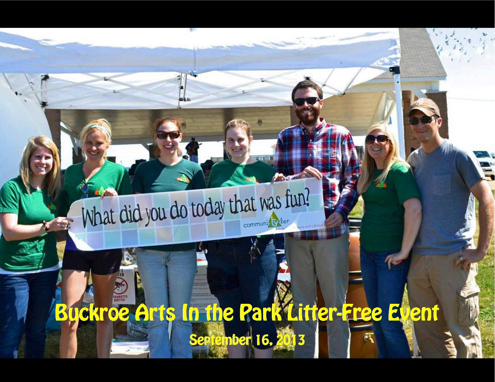 9-16-13 Buckroe Arts in the Park Litter Free Event