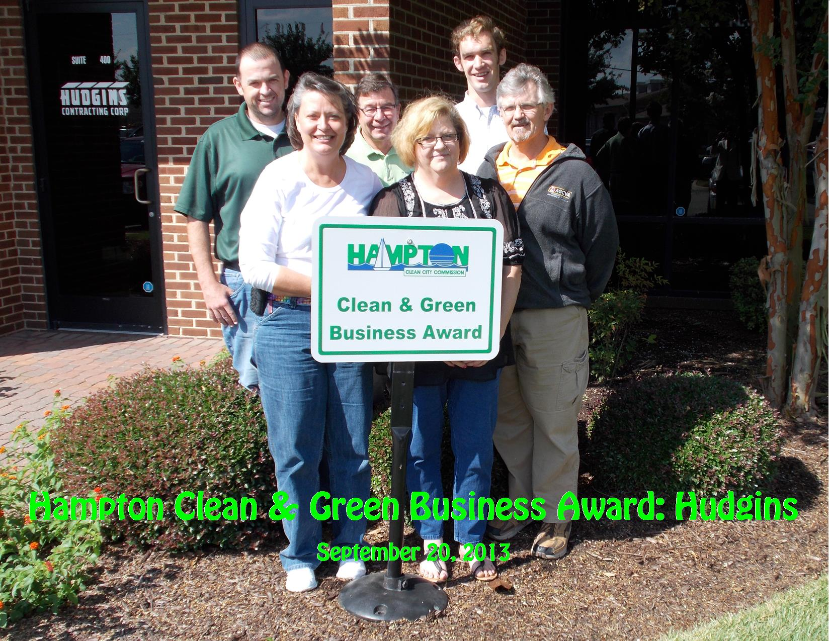 9-20-13 Clean Business Award Hudgins