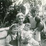 Goldstein grandmother with grandchildren