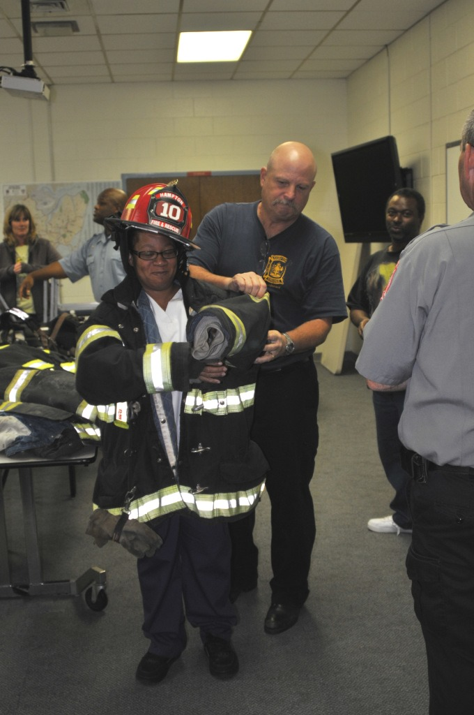 Student in Firefighter Gear